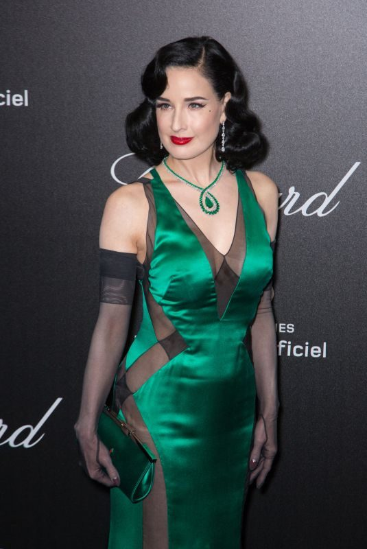 DITA VON TEESE at Chopard Party at 2019 Cannes Film Festival 05/17/2019