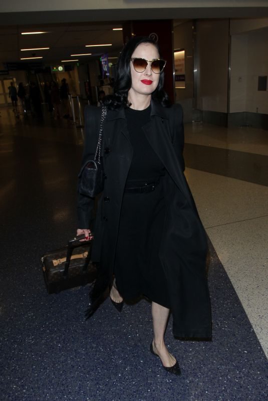 DITA VON TEESE at Los Angeles International Airport 05/20/2019