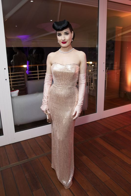 DITA VON TEESE at Vanity Fair US & Chopard Dinner at Cannes Film Festival 05/17/2019