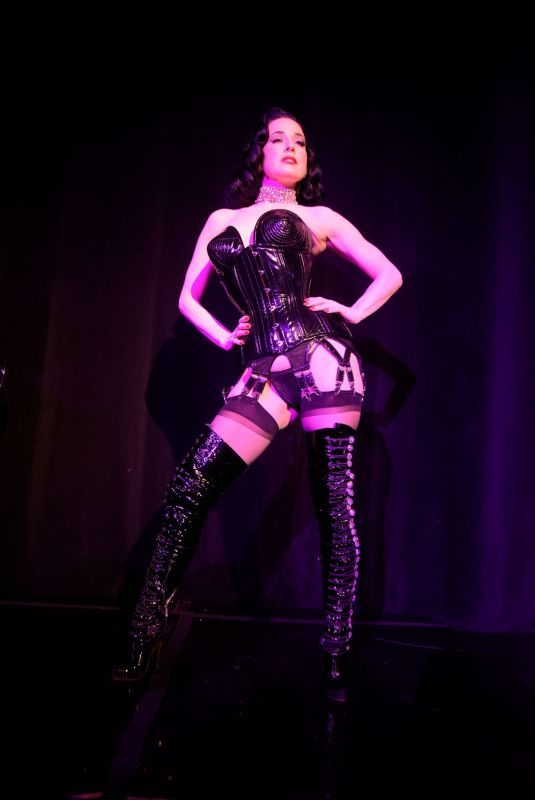 DITA VON TEESE Performs at Giorgio's in Los Angeles 04/27/2019