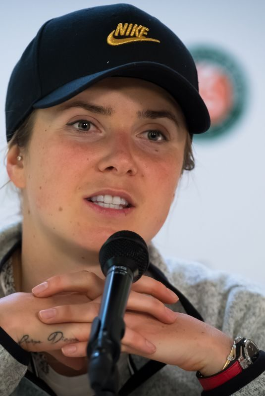 ELINA SVITOLINA at Roland Garros French Open Tournament Press Conference in Paris 05/26/2019