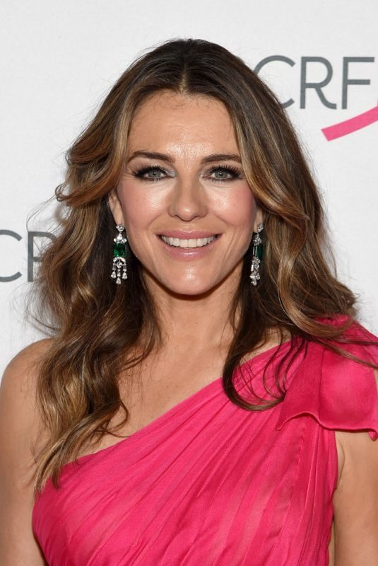 ELIZABETH HURLEY at Breast Cancer Research Foundation's Hot Pink Party in New York 05/15/2019