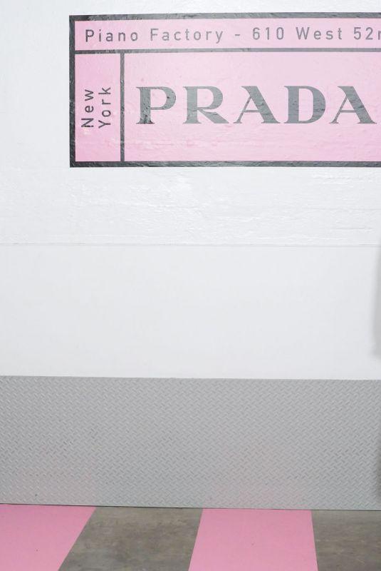 ELLA BALINSKA at Prada Resort 2020 Fashion Show in New York 05/02/2019