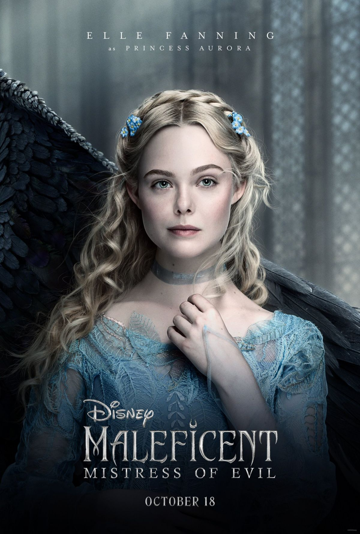 Elle Fanning Maleficent Mistress Of Evil Poster And