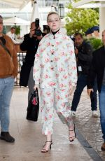 ELLE FANNING Out and About at Cannes Film Festival 05/18/2019