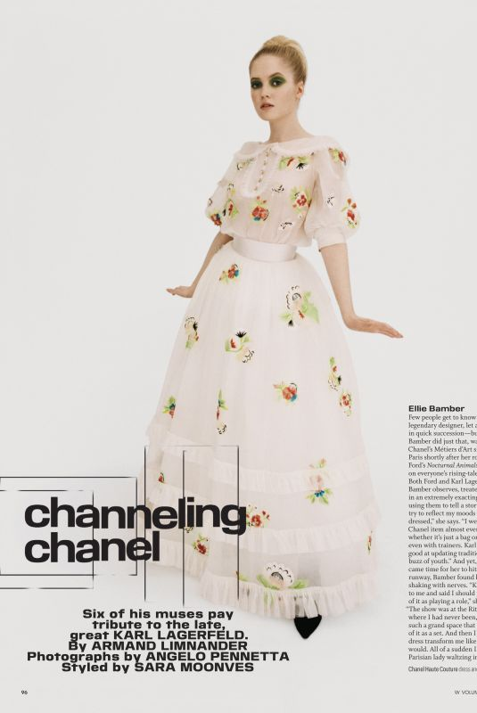 ELLIE BAMBER in W Magazine, Volume #3 2019
