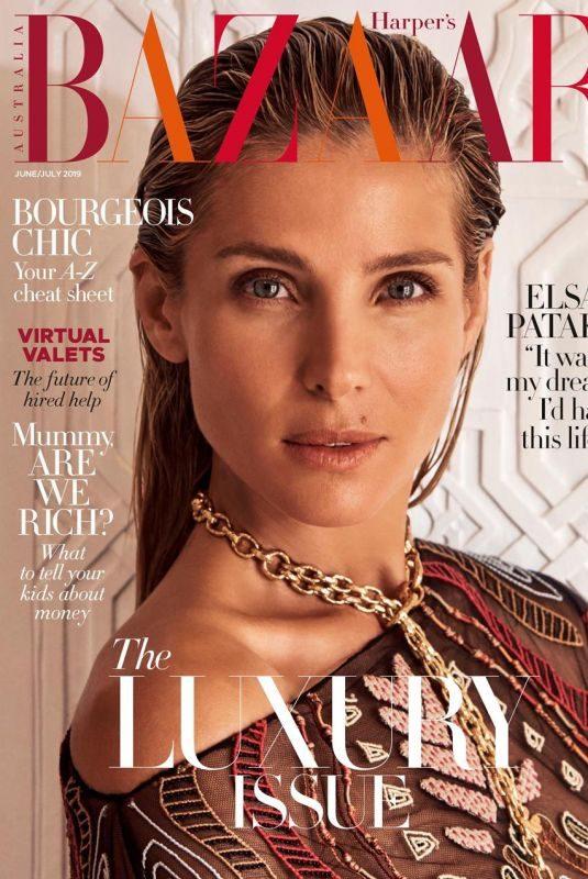 ELSA PATAKY on the Cover of Harper's Bazaar Magazine, Australia June/July 2019