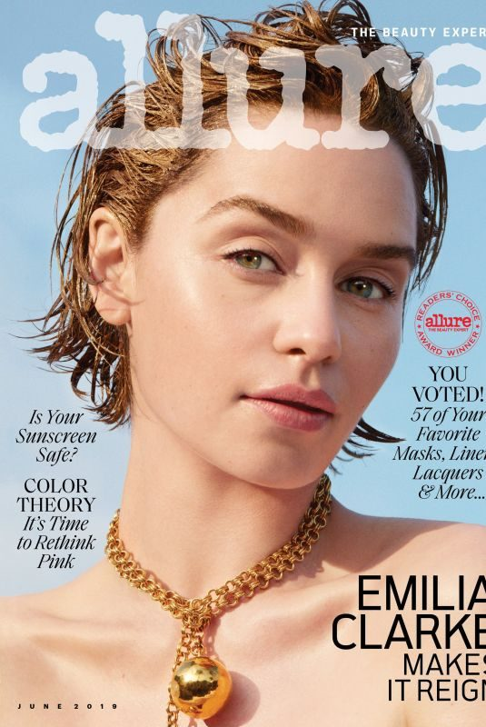 EMILIA CLARKE in Allure Magazine, June 2019