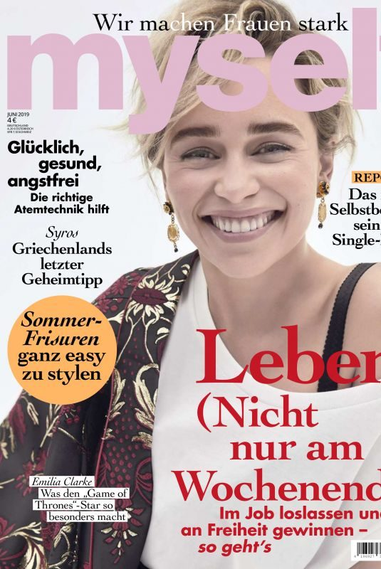 EMILIA CLARKE in Myself Magazine, June 2019
