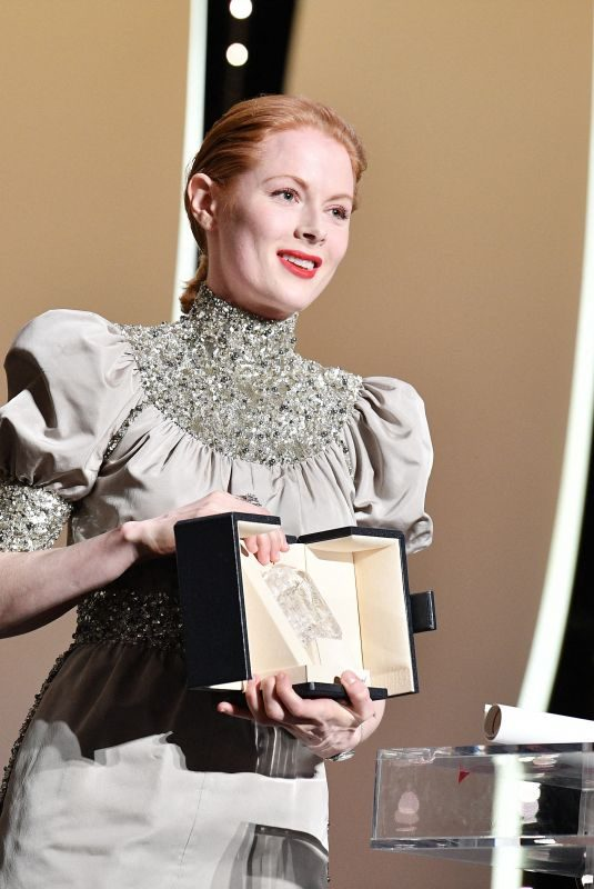 EMILY BEECHAM Receives Best Actress Award at Closing Ceremony at 72nd Annual Cannes Film Festival 05/25/2019