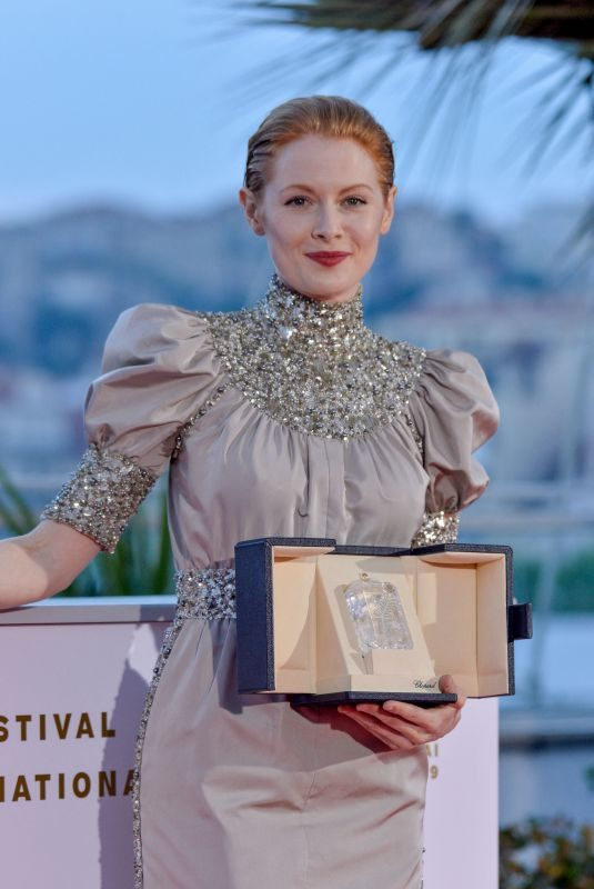 EMILY BEECHAM Receives Best Actress Award Winner Photocall at 2019 Cannes Film Festival 05/25/2019