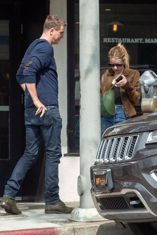 EMMA ROBERTS and Garrett Hedlund Out in Los Feliz 05/02/2019