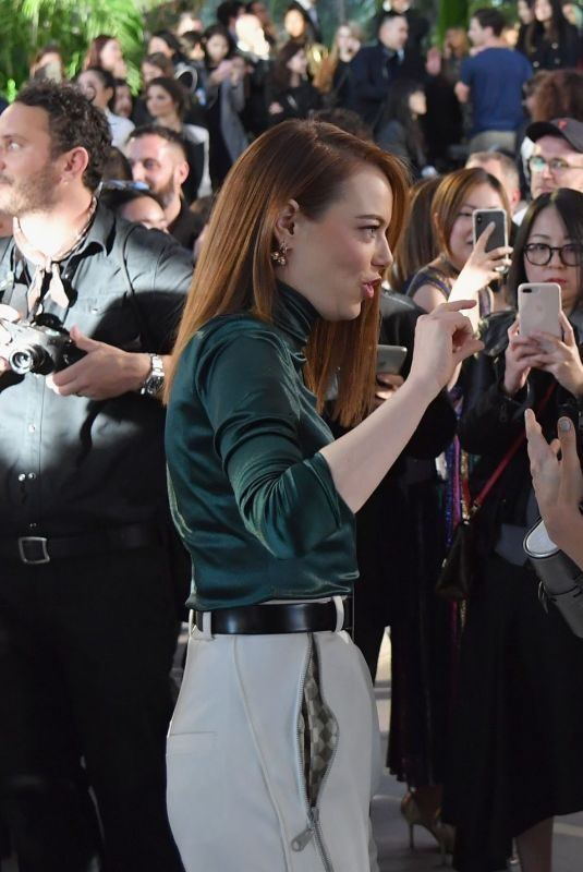 EMMA STONE, ALICIA WIKANDER, CATE BLANCHETT, JENNIFER CONNELLY, LEA SEYDOUX and MICHELLE WILLIAMS at Louis Vuitton Cruise 2020 Fashion Show at JFK Airport in New Yokr 05/08/2019