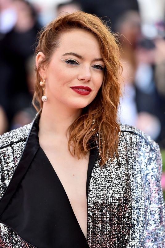 EMMA STONE at 2019 Met Gala in New York 05/06/2019
