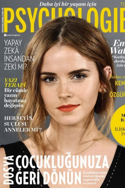 EMMA WATSON on the Cover of Psychologies Magazine, Turkey May 2019