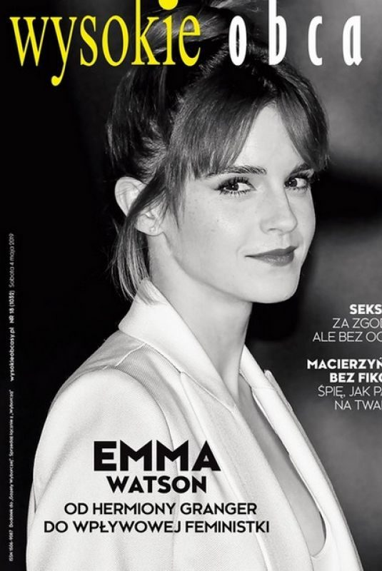 EMMA WATSON on the Cover of Wysokie Obcasy Magazine, Poland May 2019