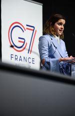EMMA WATSON Speak at G7 Equality Meeting in Paris 05/10/2019