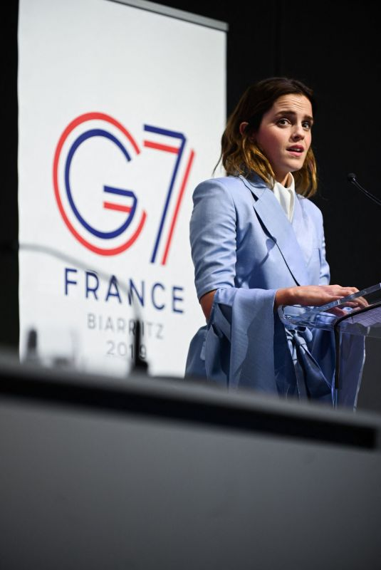 EMMA WATSON Speak at G7 Equality Meeting in Paris 05/10/2019