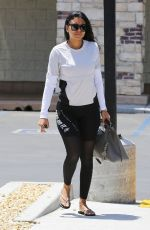 ENIKO PARRISH Leaves a Nail Salon in Topanga Canyon 05/16/2019