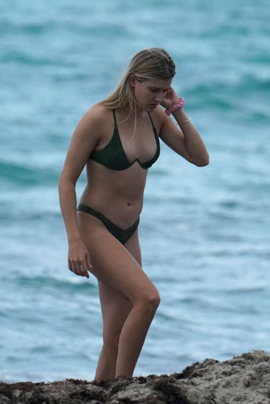 EUGENIE BOUCHARD in Bikini at a Beach in Miami 05/04/2019