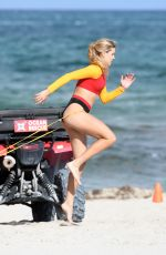 EUGENIE BOUCHARD in Bikini Working Out at Miami Beach 05/18/2019