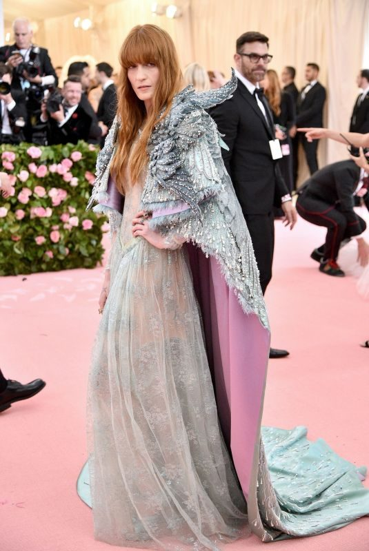 FLORENCE WELCH at 2019 Met Gala in New York 05/06/2019