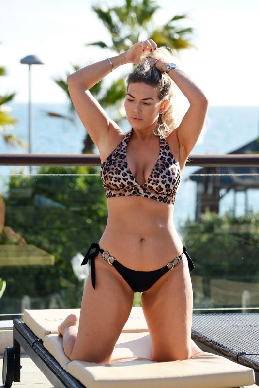 FRANKIE ESSEX in Bikini at a Pool in Tenerife 05/23/2019