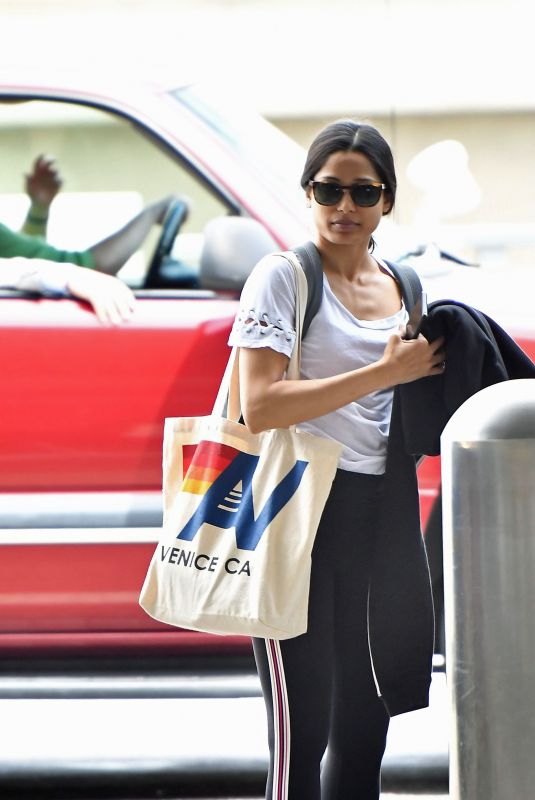 FREIDA PINTO at LAX Airport in Los Angeles 05/02/2019