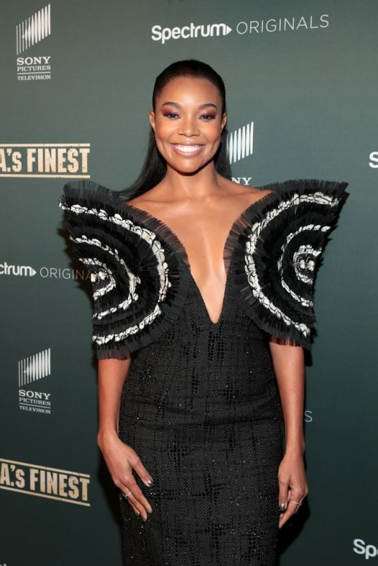 GABRIELLE UNION at L.A.'s Finest Premiere in Hollywood 05/10/2019
