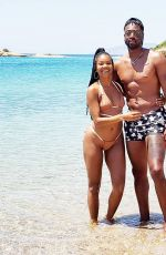 GABRIELLE UNION in Bikini at a Beach in Greece 05/28/2019