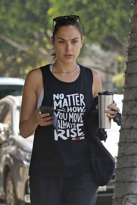 GAL GADOT Arrives at Pilates Class in Beverly Hills 05/29/2019