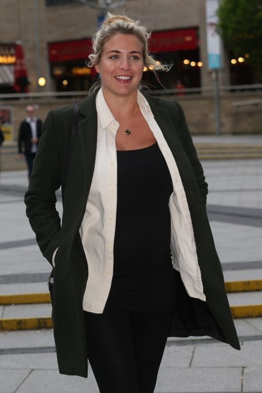 GEMMA ATKINSON Arrives at Lowry in Salford 05/03/2019