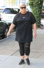 GEMMA COLLINS Out for Lunch at Yhe Ivy in West Hollywood 05/21/2019