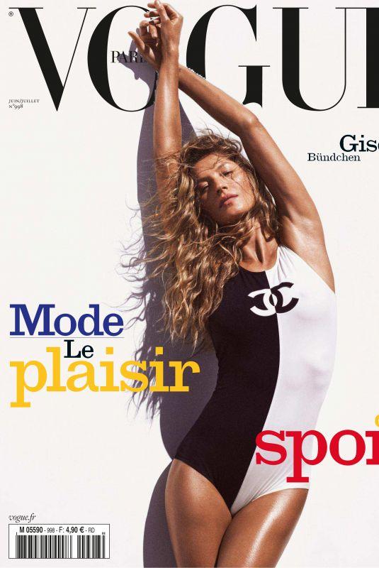 GISELE BUNDCHEN in Vogue Paris, June/July 2019