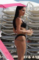 GIULIA DE LELLIS in Bikini on the Beach in Miami 04/29/2019