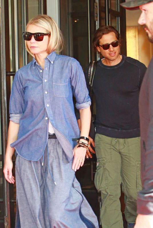 GWYNETH PALTROW and Brad Falchuk Leaves Mark Hotel in New York 05/07/2019