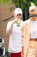 HAILEY and Justin BIEBER Out and About in New York 05/04/2019