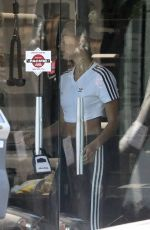 HAILEY BIEBER Working Out at Dogpound Gym in Los Angeles 05/23/2019