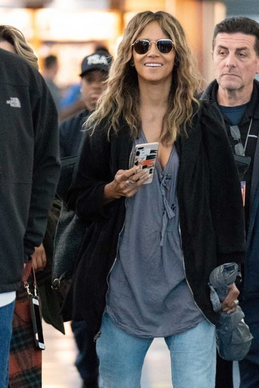 HALLE BERRY at JFK Airport in New York 05/07/2019