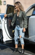 HALLE BERRY in Ripped Denim Out in Los Angeles 05/13/2019