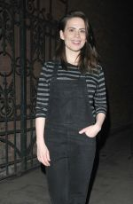 HAYLEY ATWELL at Rosmersholm Theatre Cast Departures in London 05/21/2019