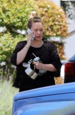 HILARY DUFF Out and About in Studio City 05/29/2019