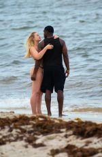 ISKRA LAWRENCE in Bikini on the Beach in Miami 05/11/2019