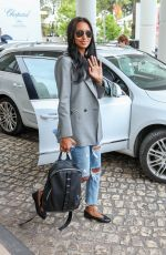 JASMINE TOOKES in Riped Jeans at Martinez Hotel in Cannes 05/24/2019