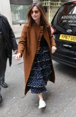 JENNA LOUISE COLEMAN Arrives at Graham Norton Show in London 05/11/2019