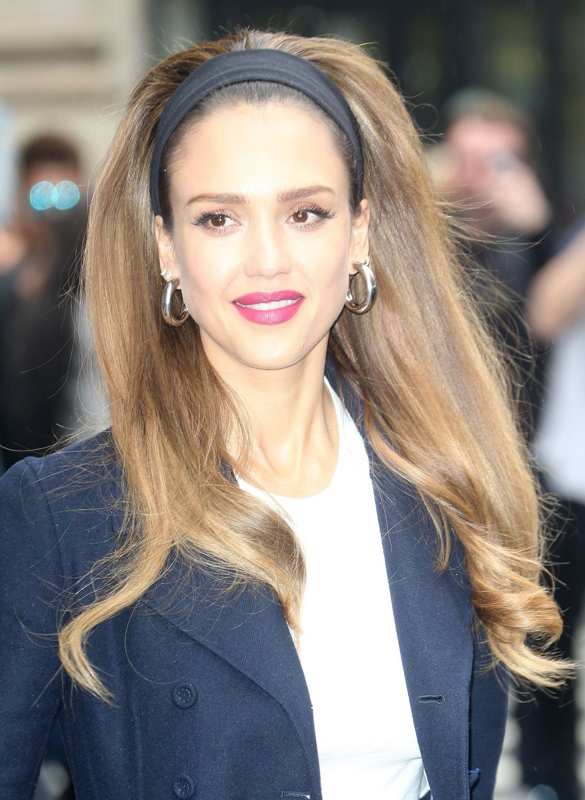 JESSICA ALBA Arrives at AOL Build in New York 05\/14\/2019 – HawtCelebs
