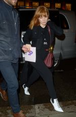 JESSICA CHASTAIN Arrives at Her Hotel in London 05/24/2019