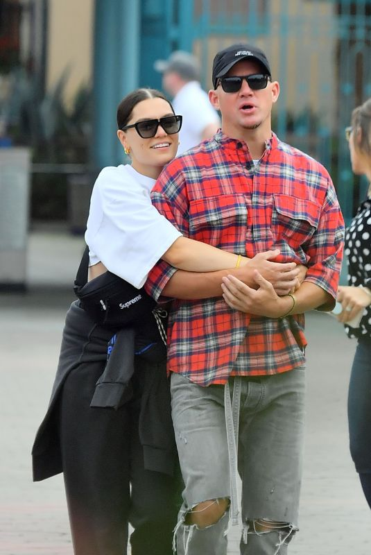 JESSIE J and Channing Tatum Out at Disneyland 05/15/2019