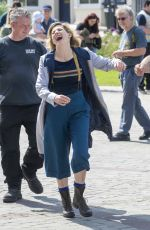 JODIE WHITTAKER on the Set of Dr Who in Gloucester 05/23/2019