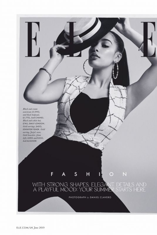 JORJA SMITH in Elle Magazine, UK June 2019
